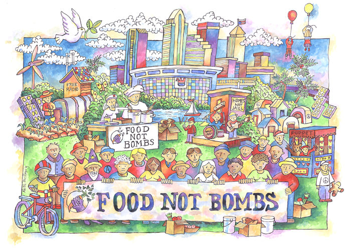 Image result for food not bombs clip art